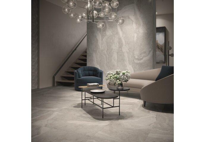 Vloertegel Cristacer Tavertino Di Caracalla Antracita 60x120 cm (doosinhoud 1.44 m2)