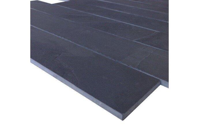 Wandtegel Mustang black leisteen muurstroken 6cm (p/m2) (Wandtegels)