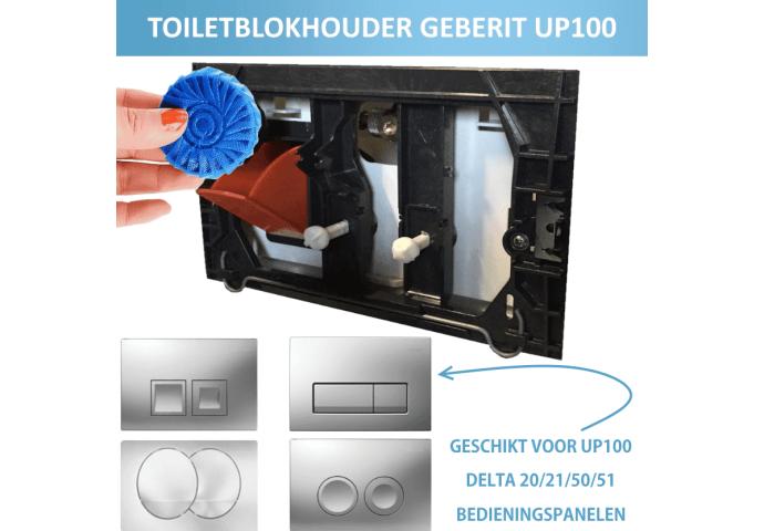 Toiletblokhouder tbv Geberit up100 (delta drukplaten) | Tegeldepot.nl