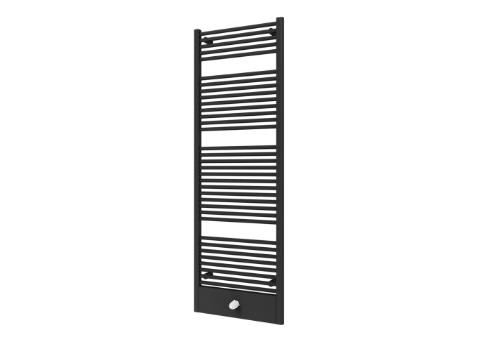 Designradiator Boss & Wessing Locco Middenaansluiting 177,5x60 cm 982 Watt Black Graphite