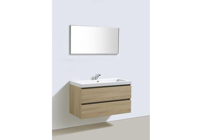 Badkamermeubelset Sanilux Trendline 100x47x50 cm 2 Kraangaten Light Wood
