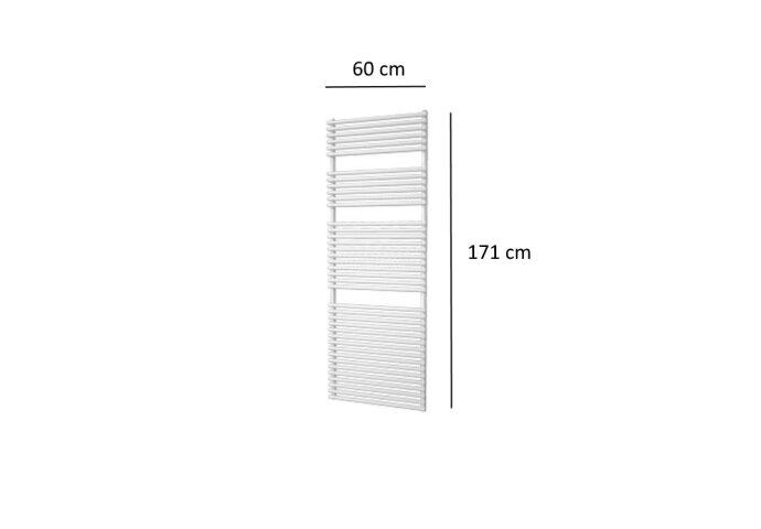Designradiator Plieger Florian 1046 Watt Vier Aansluitpunten 171x60 cm Wit