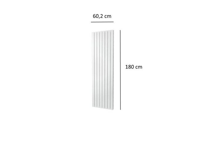 Designradiator Plieger Cavallino Retto Dubbel 1549 Watt Middenaansluiting 180x60,2 cm Wit