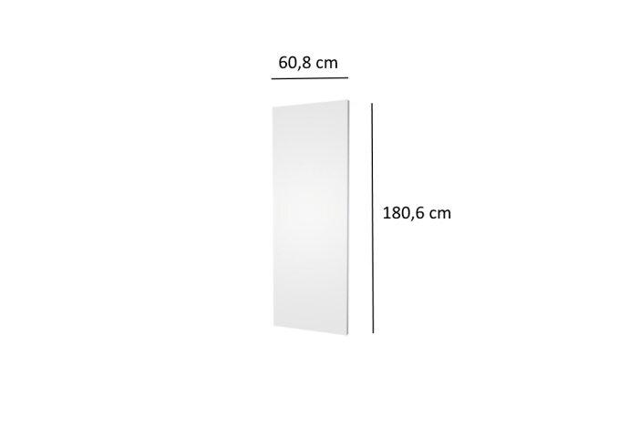 Designradiator Plieger Perugia 1070 Watt Middenaansluiting 180,6x60,8 cm Wit