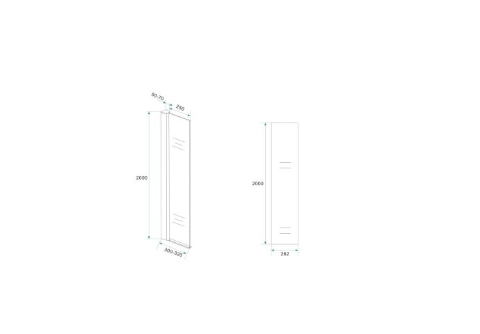 BWS Apollo Zijwand met Muurprofiel 30x200 cm 10mm NANO glas