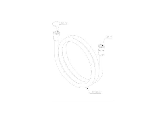 Damixa Easyflex Zilverkleurige Doucheslang 125 cm 1/2'' Aansluiting