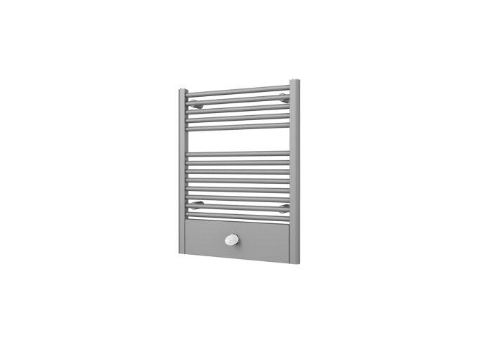 Designradiator Boss & Wessing Locco Middenaansluiting 77,5x60 cm 415 Watt Pearl Grey