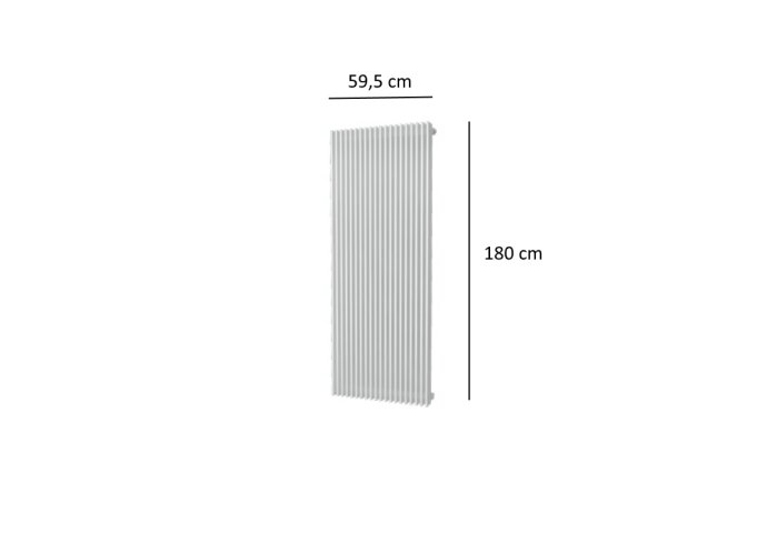 Designradiator Plieger Antika Retto 2223 Watt Middenaansluiting 180x59,5 cm Wit