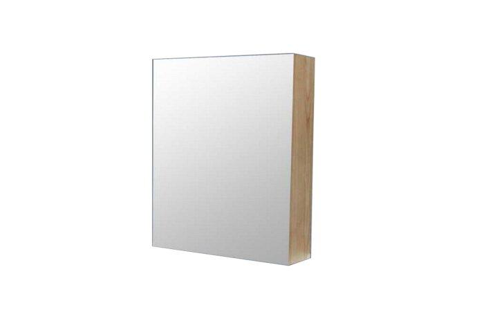 Spiegelkast Sanilux Wood 60x70x16cm Massief eiken Softclose Rechtsdraaiend