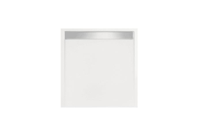 Douchebak Glans Wit Vierkant Zelfdragend Easy Tray 80x80x5cm Gootcover Mat