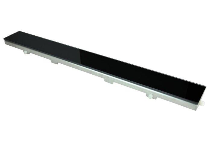Glasrooster zwart 800x70 tbv RVS douchegoot