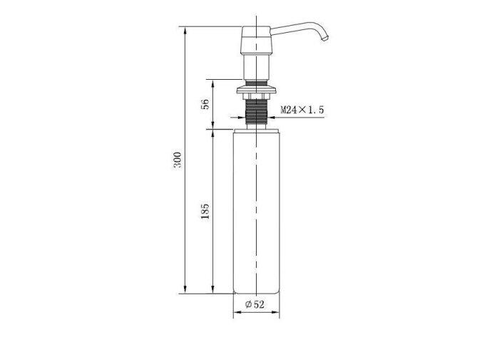 VSH inbouwzeepdispenser voor montage in blad of wastafel chroom (Accessoires)
