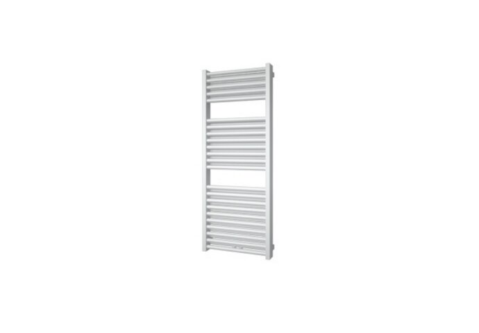 Designradiator Boss & Wessing Ifona 123x50 cm 802 Watt Met Middenaansluiting Antraciet Metallic
