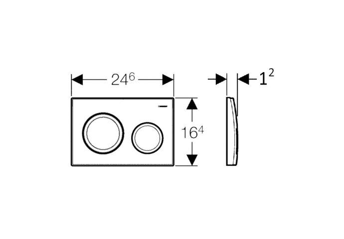 Drukplaat Geberit Sigma 20 mechanisch wit met chromen toetsen | Tegeldepot.nl