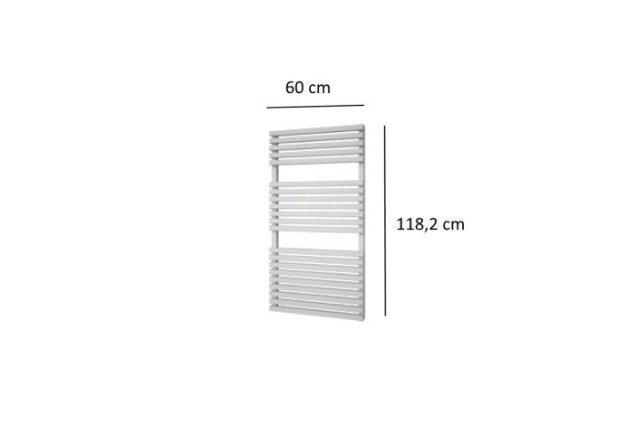 Designradiator Plieger Lugo 748 Watt Vier Aansluitpunten 118,2x60 cm Wit