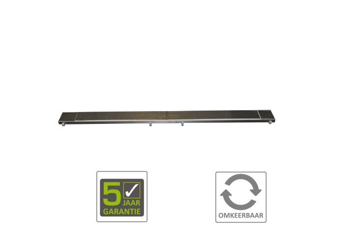 BWS RVS Tegelrooster tbv Douchegoot 100x7 cm