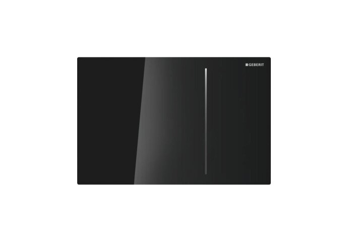 Bedieningsplaat Geberit Sigma 70 tav UP320 Glas Zwart/Aluminium