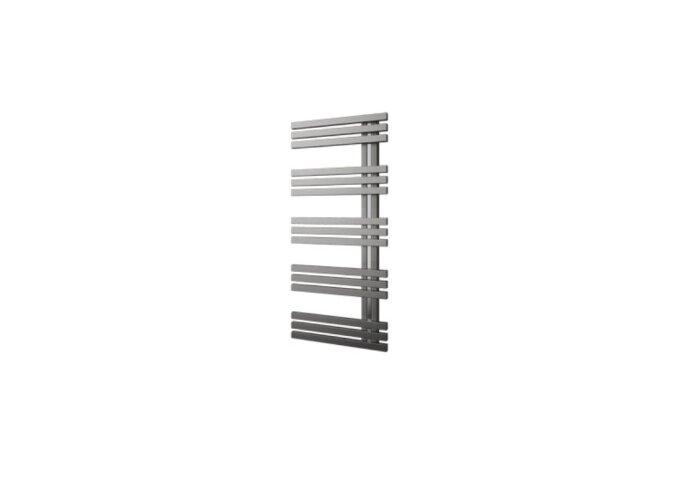 Designradiator Plieger Inox Suono Sinistra 464 Watt Middenaansluiting 100x50 cm Inox-Look