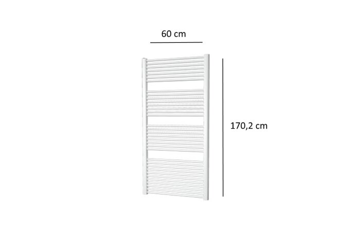 Designradiator Plieger Palermo 921 Watt Zijaansluiting 170,2x60 cm Wit